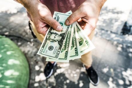 Fanned us dollars 4460x4460