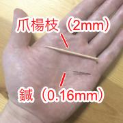鍼と爪楊枝