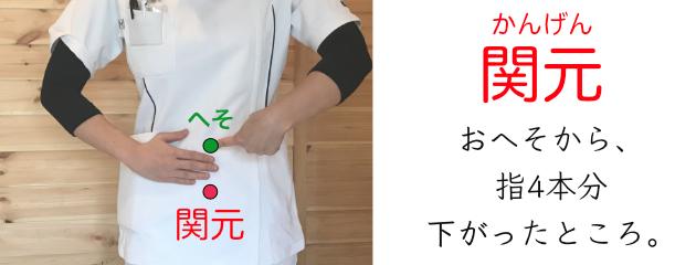 関元_生理痛に効果的なツボの解説