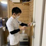 札幌鍼灸院トアノブを消毒で感染症対策